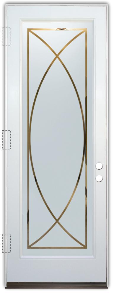 glass doors glass etching geometric patterns traditional decor sans soucie arcs