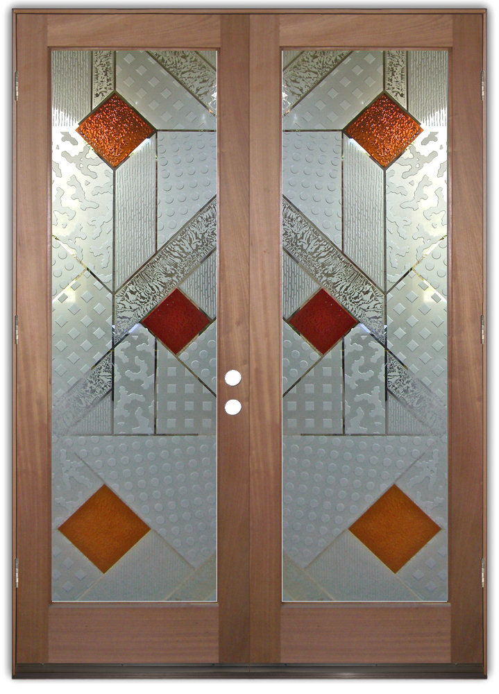 Matrix 3d iii etched glass doors modern design style for Window pane designs