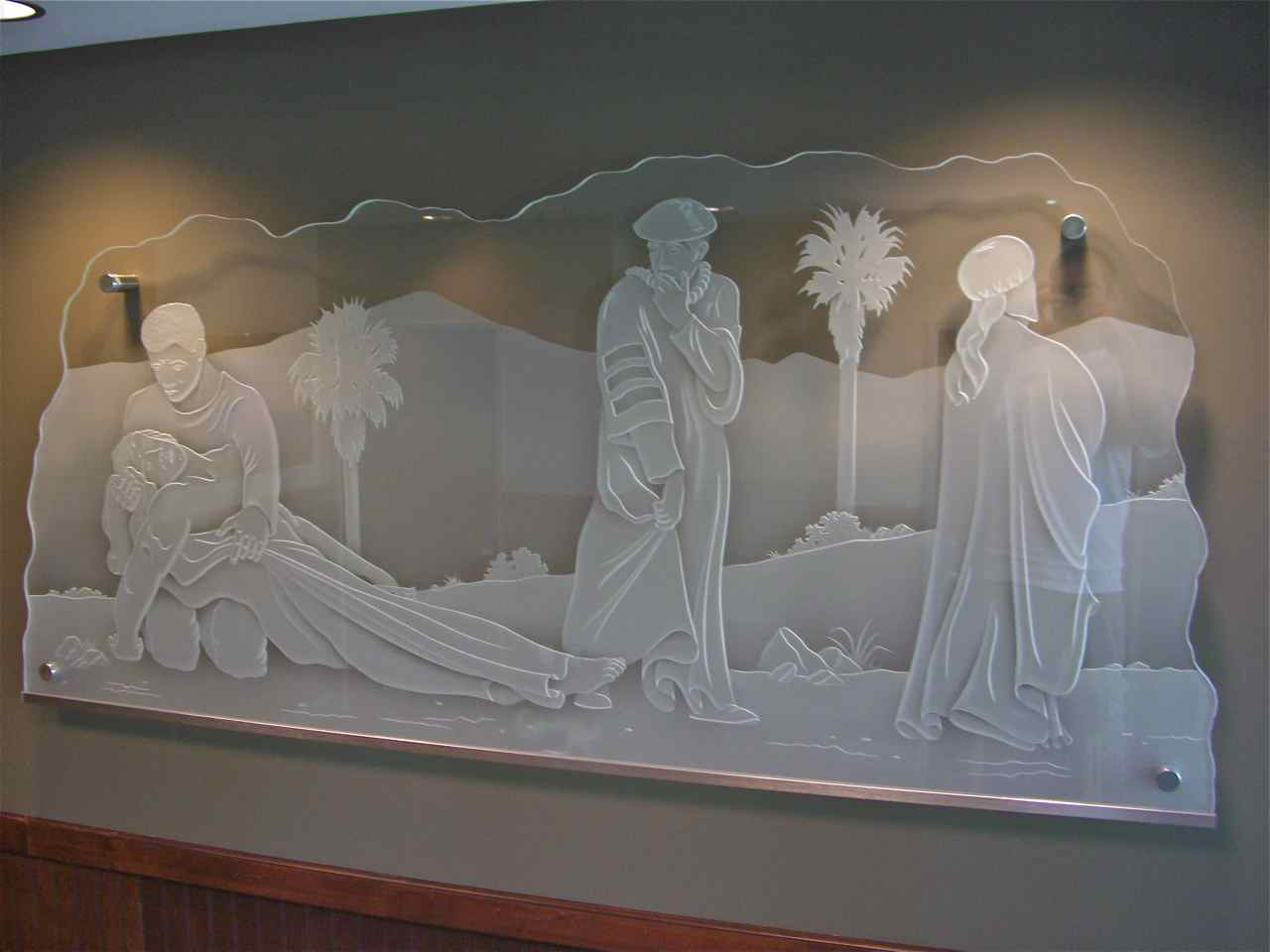 Inspiring Glass Wall Art Loma Linda University Sans