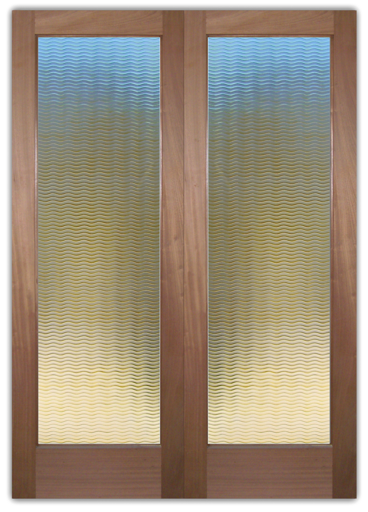 Exceptional Golden Carved Waves Sans Soucie Door. Front Doors Painted And Carved Glass  Contemporary ...
