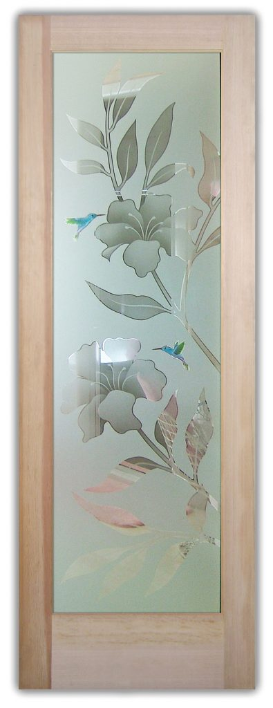 Hibiscus 2D interior or exterior glass doors