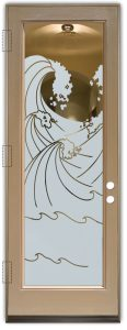 interior doors with glass etching frosted glass coastal style waves ocean high seas sans soucie