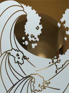 etching glass custom glass ocean coastal decor sans soucie high seas