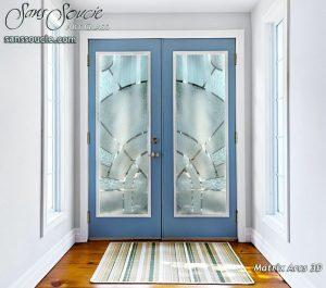 modern entry doors sandblasted glass modern decor sans soucie
