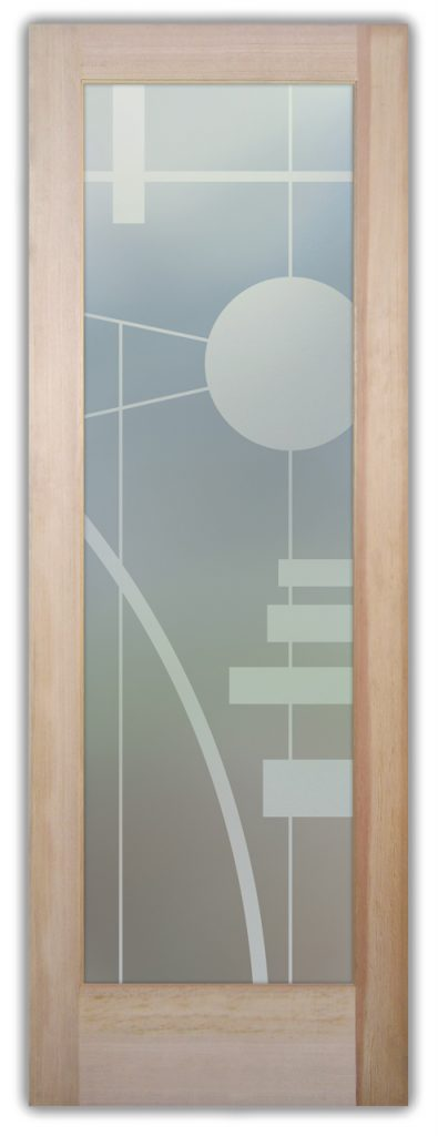 Interval 1D Private Etched Glass Doors
