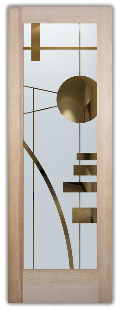 Interval 1D Negative Etched Glass Door