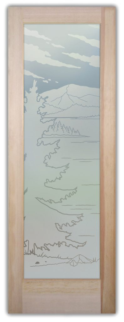 Lake Arrowhead 1D Private Etched Glass Doors