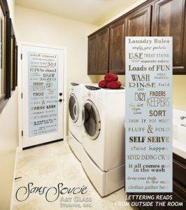Laundry Room Doors with Solid Frosted Glass rules by Sans Soucie