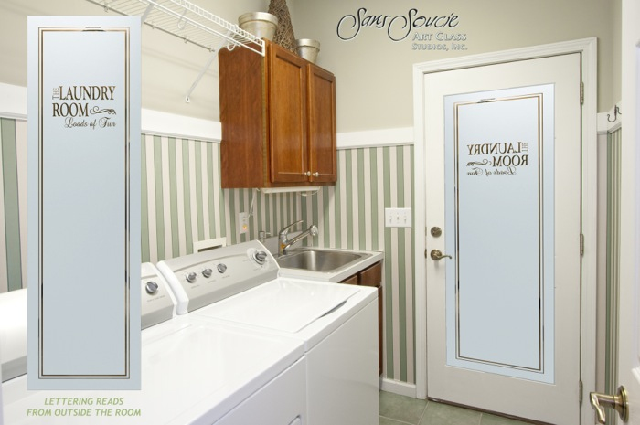 Laundry Room Doors L Etched Glass L Loads Of Fun
