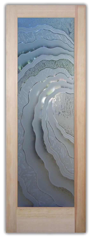 Metacurl 3D Etched Glass Doors Nautical Decor