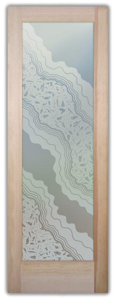 Metamorphosis Peak 1D Private Etched Glass Doors