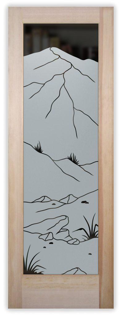 mountains foliage pantry door