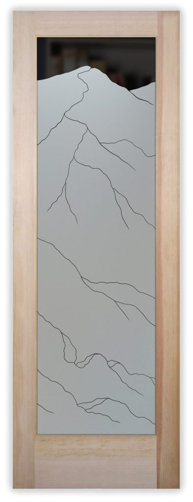 mountains pinst pantry door