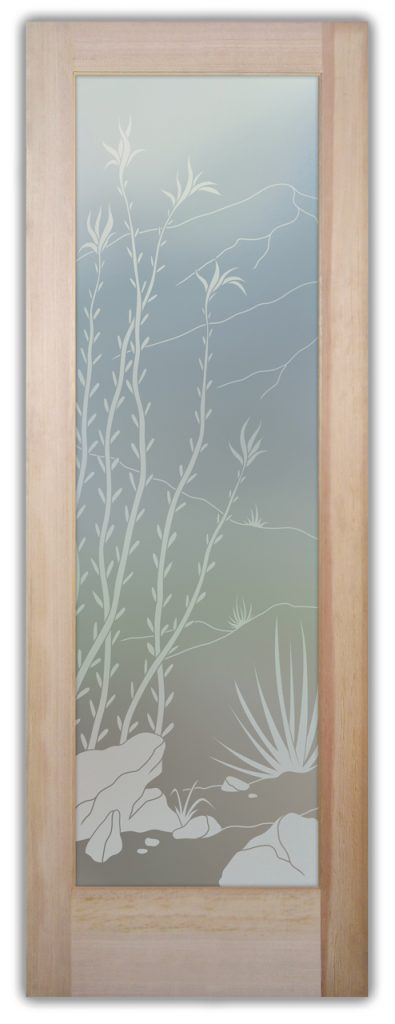 Ocotillo 1D Private Etched Glass Doors
