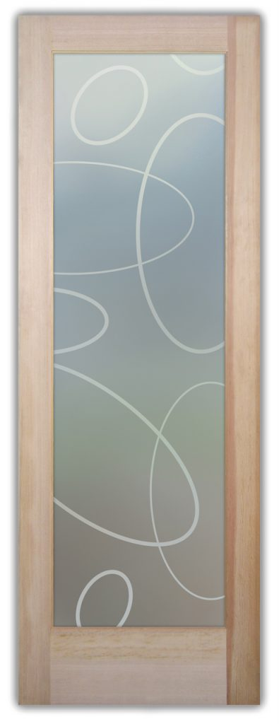 Ovals Overlap 1D Private Etched Glass Doors