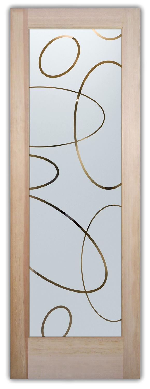 Ovals Overlap Etched Glass Front Doors Modern Design