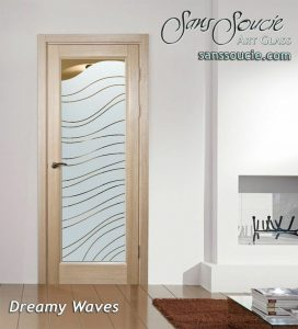 glass front doors frosted glass floating waves puffy contemporary design sans soucie dreamy waves