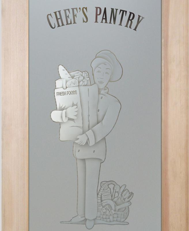 pastry chef 2D pantry door