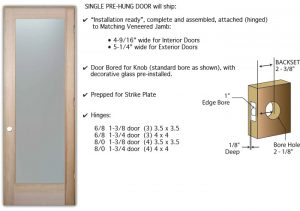 Pre Hung Interior Door By Sans Soucie Art Glass