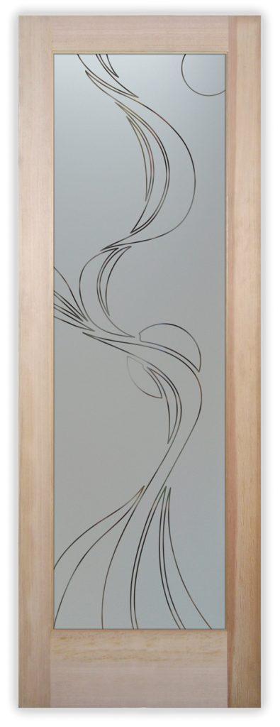 ribbon reflection moons pinstripe pantry door
