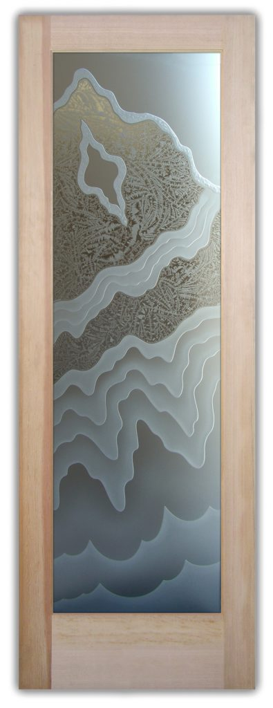 Rugged Retreat 3D Enhanced Private Gluechip Etched Glass Door