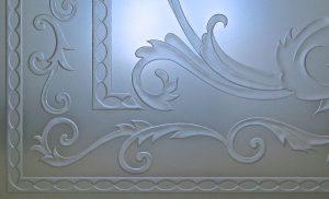 elegant french decor style etched glass window sans soucie