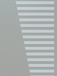 etched glass modern decor descending geometric shapes sleek bands sans soucie