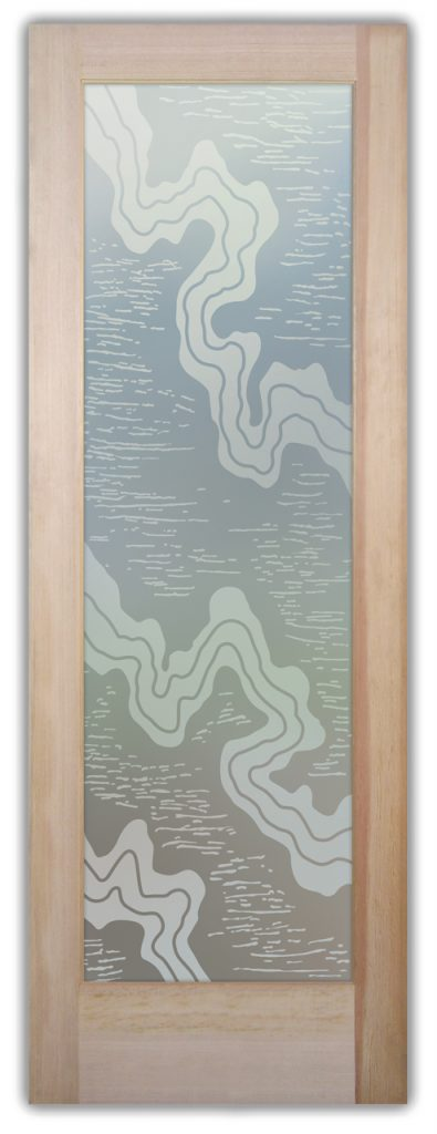 Streams 1D Private Etched Glass Doors