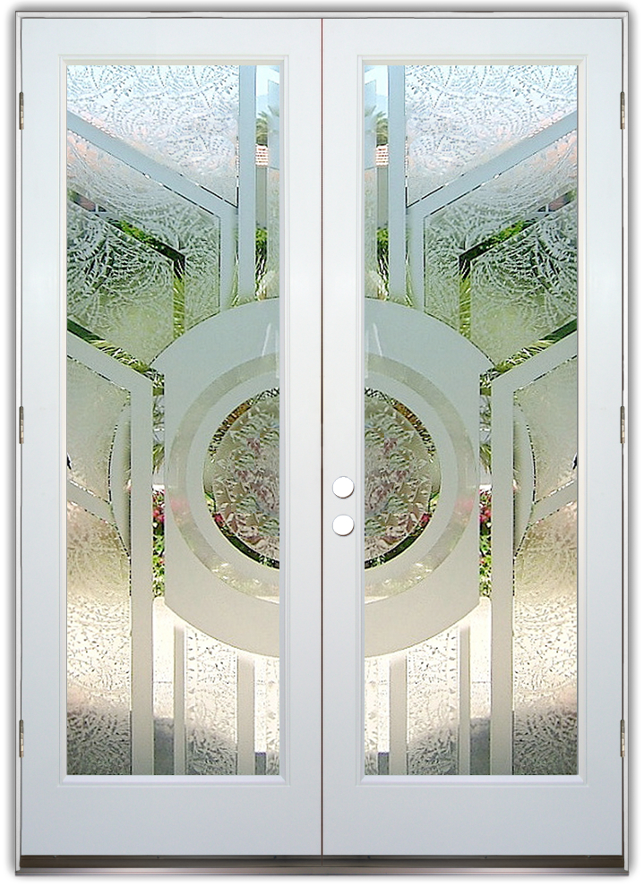 Entry Doors Frosted Glass Modern Sans Soucie
