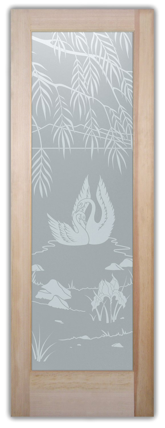 Swn Sng English Country Style Interior Etched Glass Doors