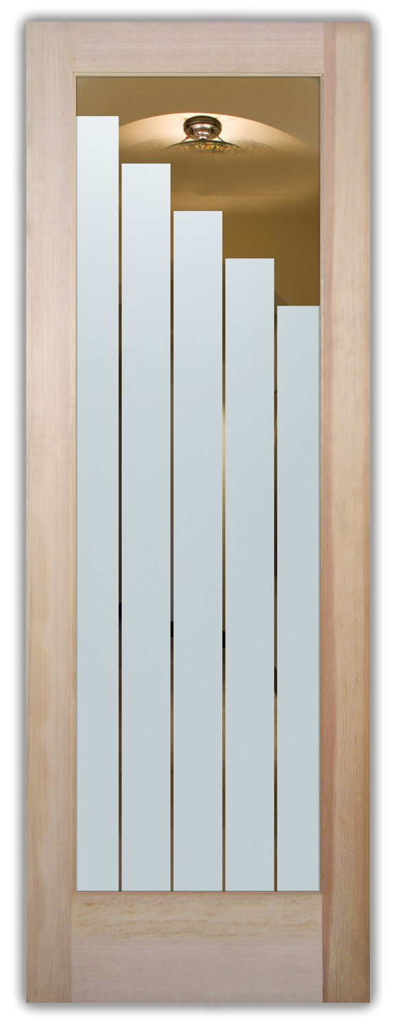 Towers Etched Glass Front Doors Contemporary Style