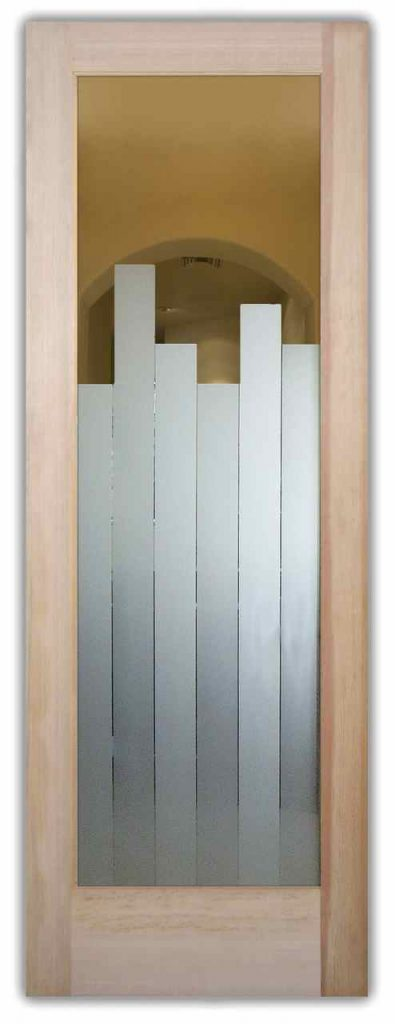 Glass Front Doors Etched Glass Modern Design Geometric Contemporary Art Deco Style