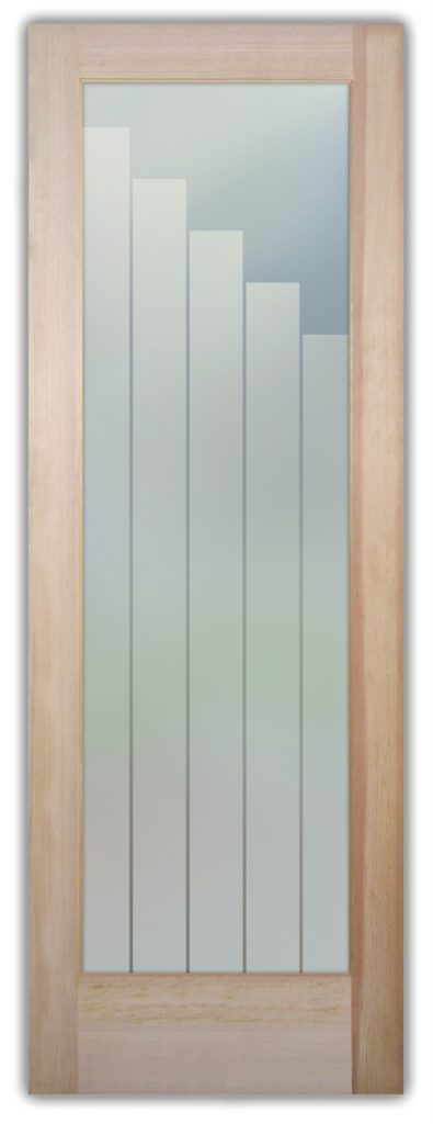 Towers 1D Private Etched Glass Doors