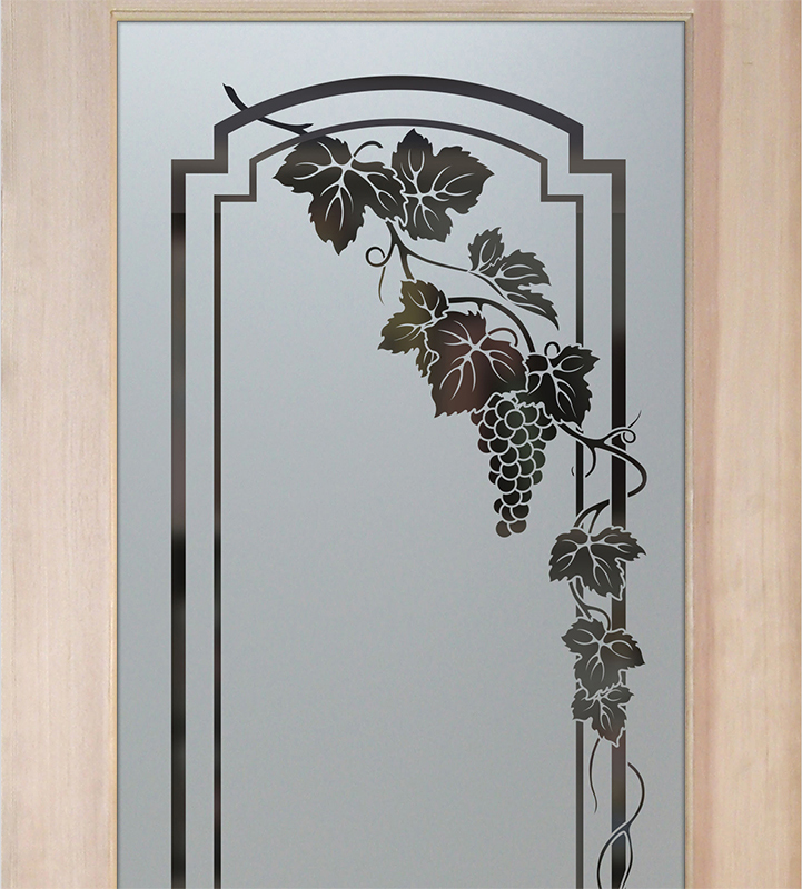 cascade vineyard grapes arched pantry doors