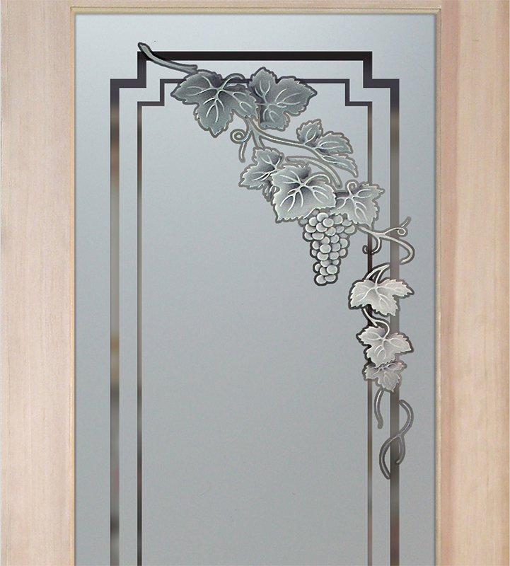 vin grapes cascade 2D pantry doors