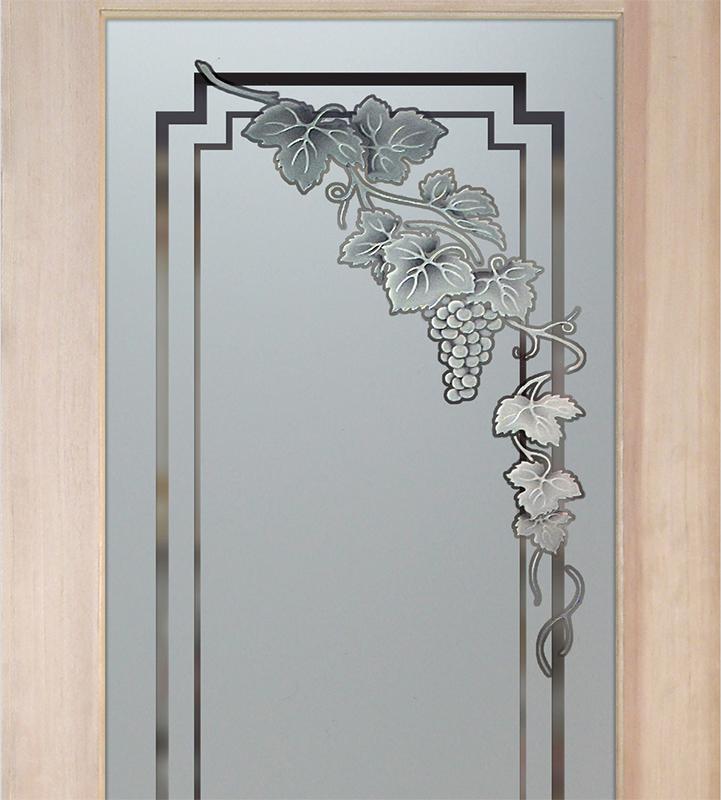 vin grapes cascade 3D pantry door