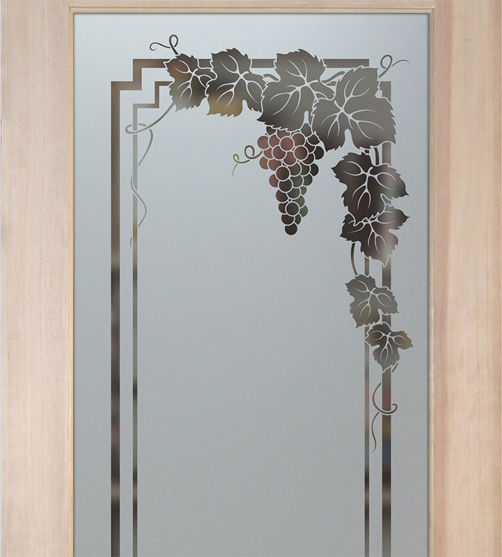 vine grapes garland pantry door