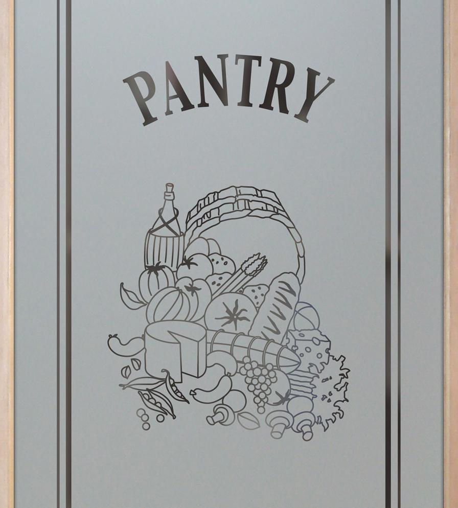 Pantry Doors Etched Glass Sans Soucie Vino 1S