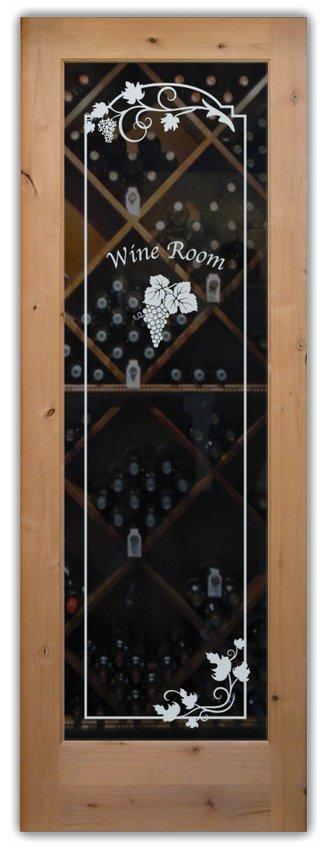 Wine Door Glass Sans Soucie Art Glass