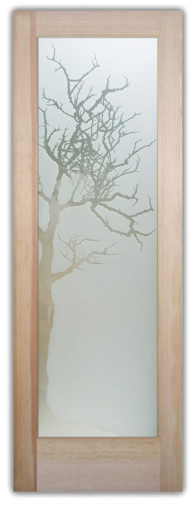 winter tree 3D interior door or exterior door