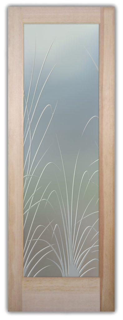 Wispy Reeds 3D Private Etched Glass Door