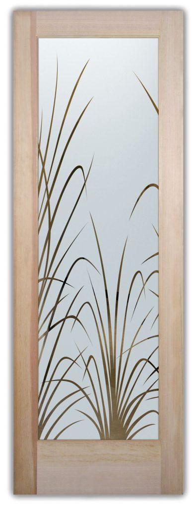 wispy reeds interior glass doors
