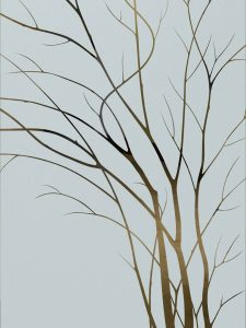 etched glass tree thin branches rustic decor sans soucie