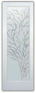 glass front doors etching glass rustic decor outdoors foliage wispy tree sans soucie