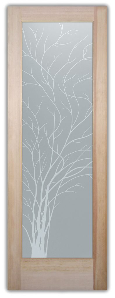 glass bathroom doors etched glass tree