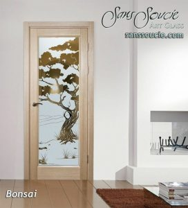 interior doors with glass custom glass asian design trees sans soucie bonsai