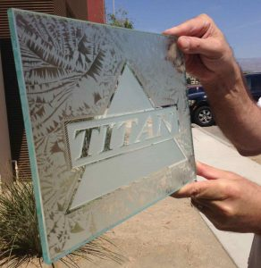 glass sign etched carved titan 02