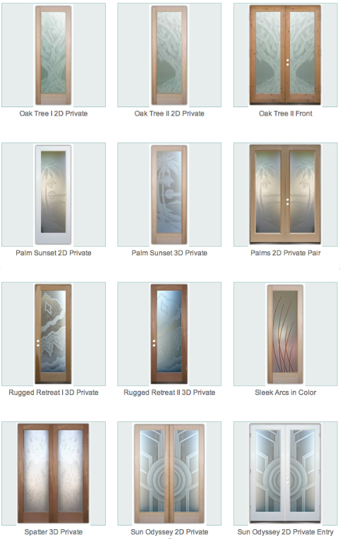 Palm Sunset 3d Exterior Glass Doors I Sans Soucie