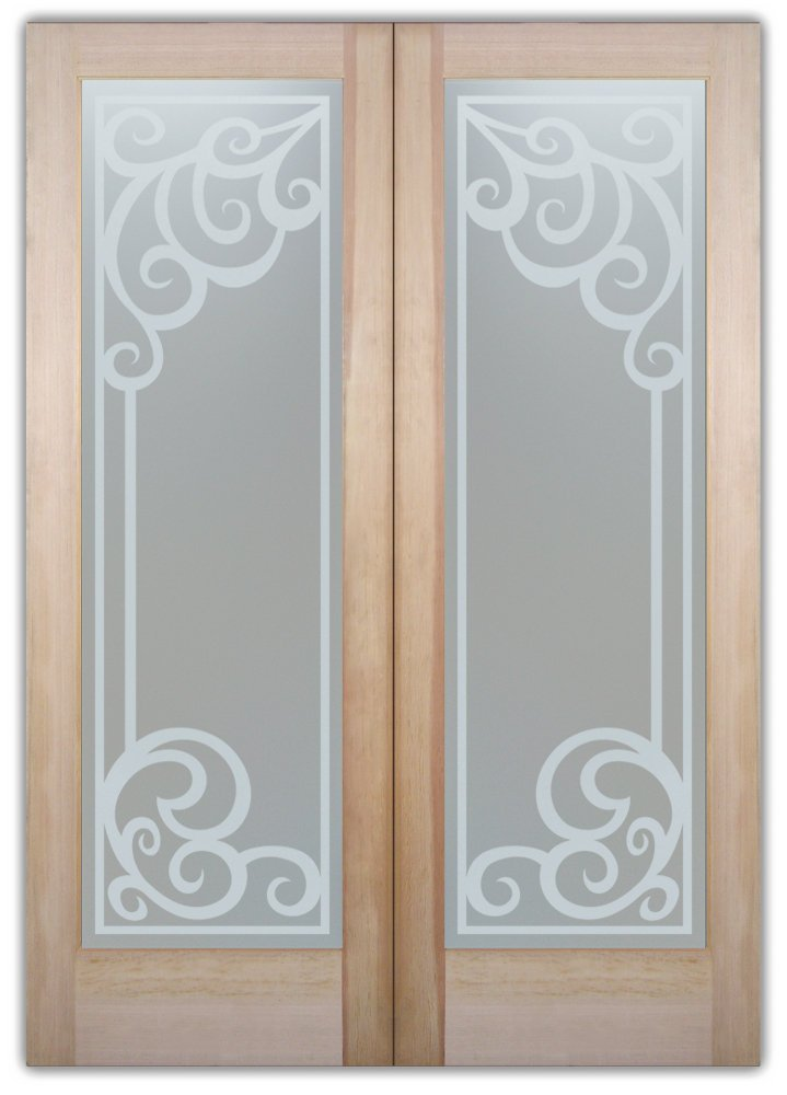 Glass Front Doors Etched Concorde