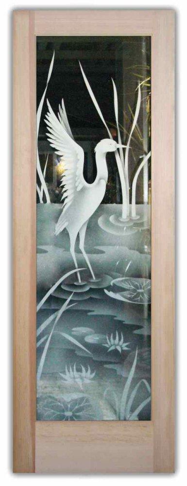 Glass Front Doors I Cranes Ii 2d By Sans Soucie Art Glass